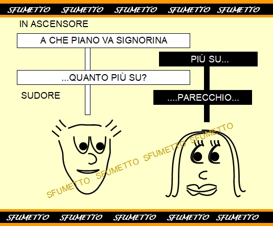 vignetta porno in ascensore